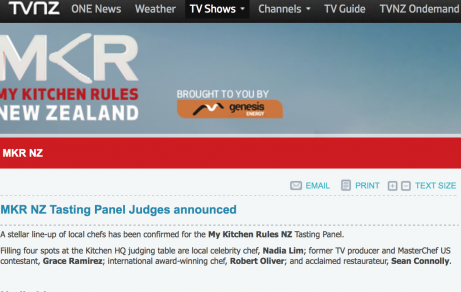 My Kitchen Rules NZ / Announcement