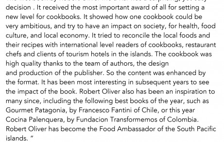 Letter from Gourmand International