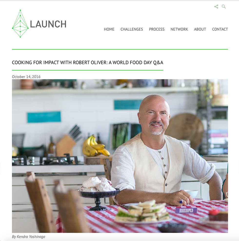 Launch: COOKING FOR IMPACT WITH ROBERT OLIVER: A WORLD FOOD DAY Q&A