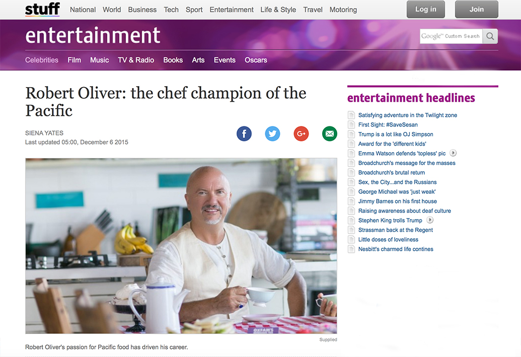Robert Oliver: the chef champion of the pacific